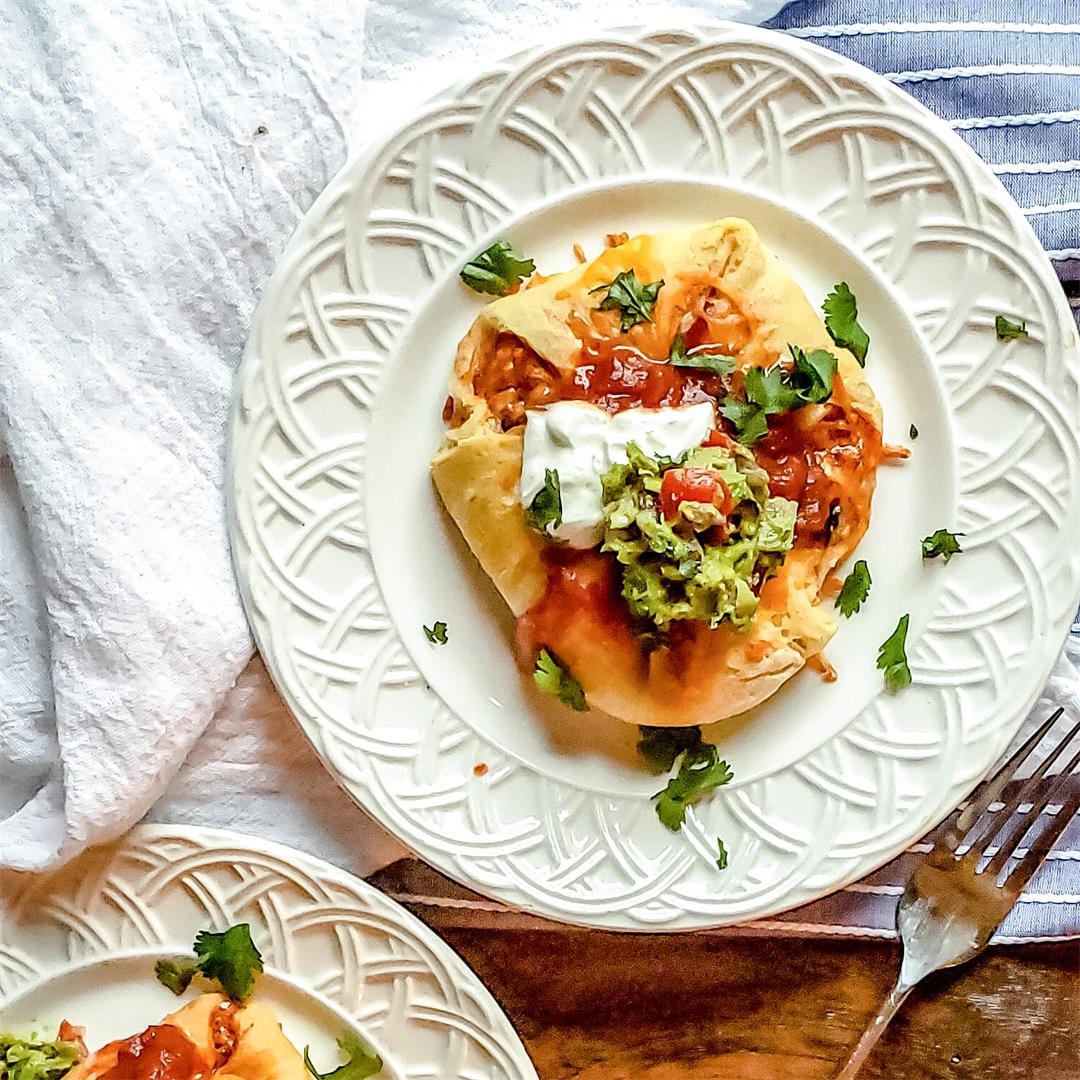 Chicken Puffs Recipe: Enchilada Style