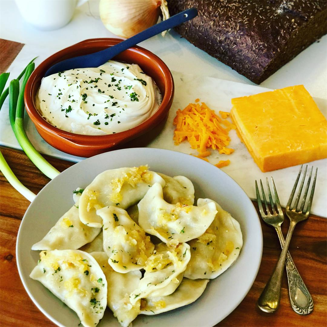 Potato Cheddar Perogies Recipe