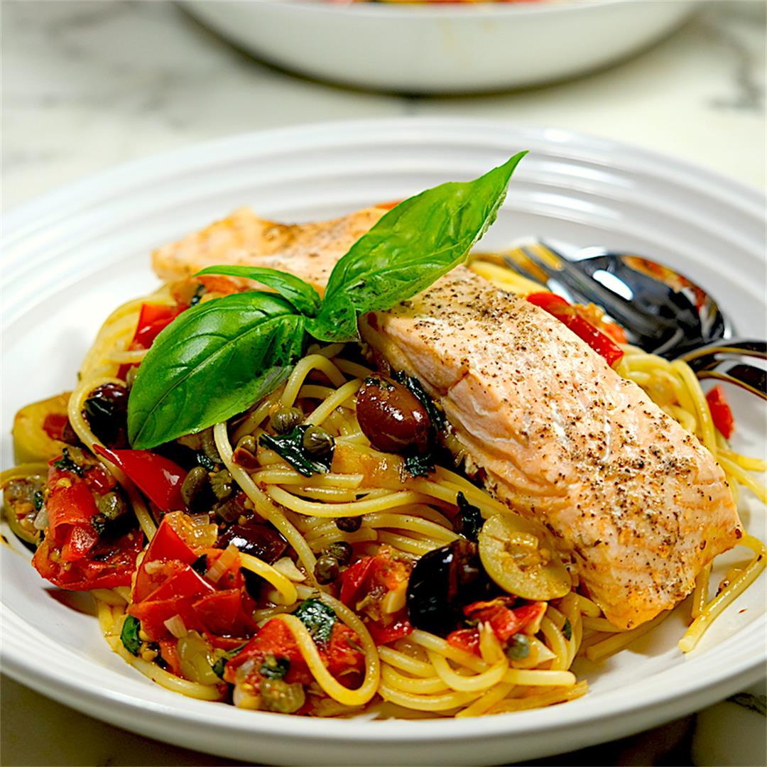Salmon Alla Puttanesca