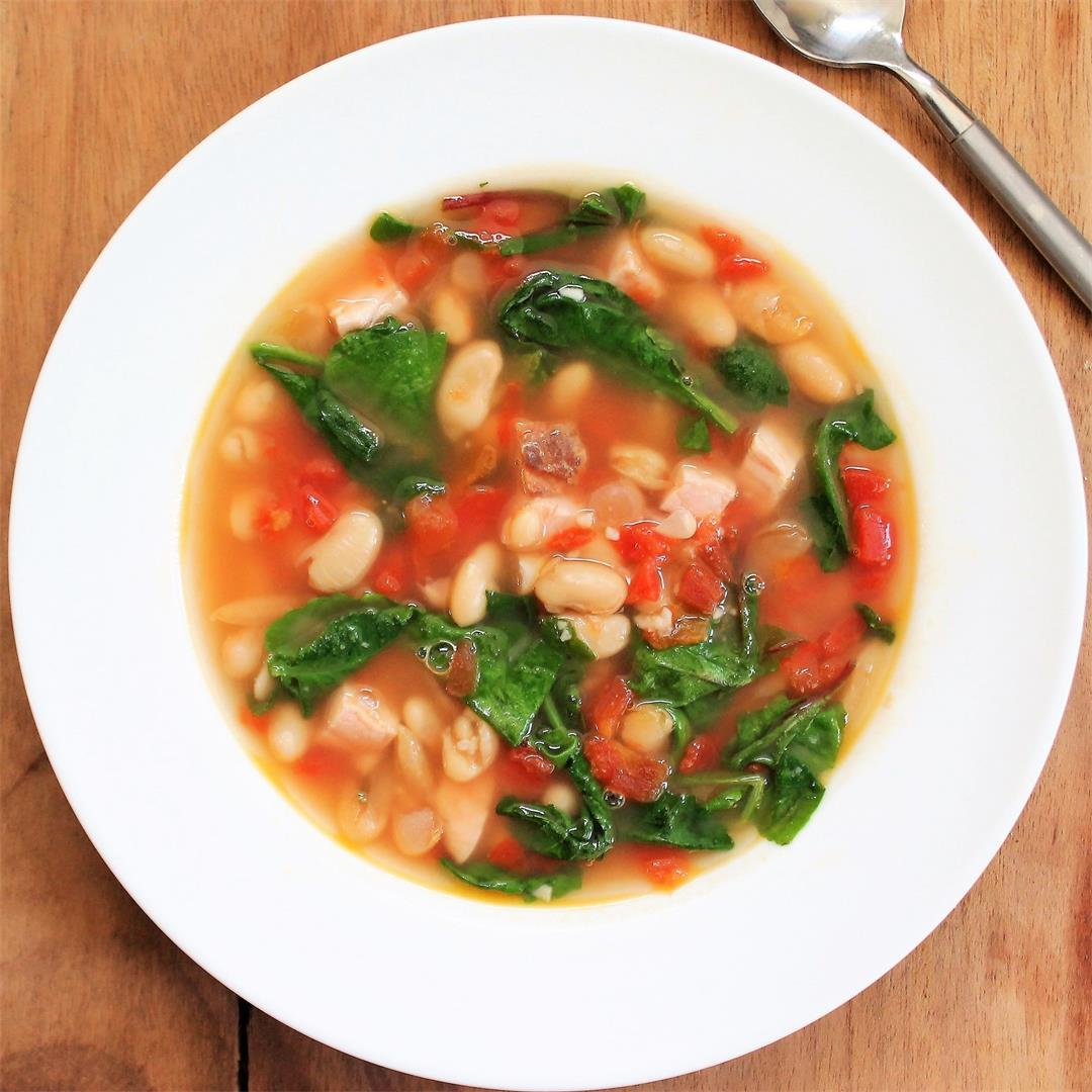 Martina McBride's Quick-Easy White Bean and Baby Greens Stew