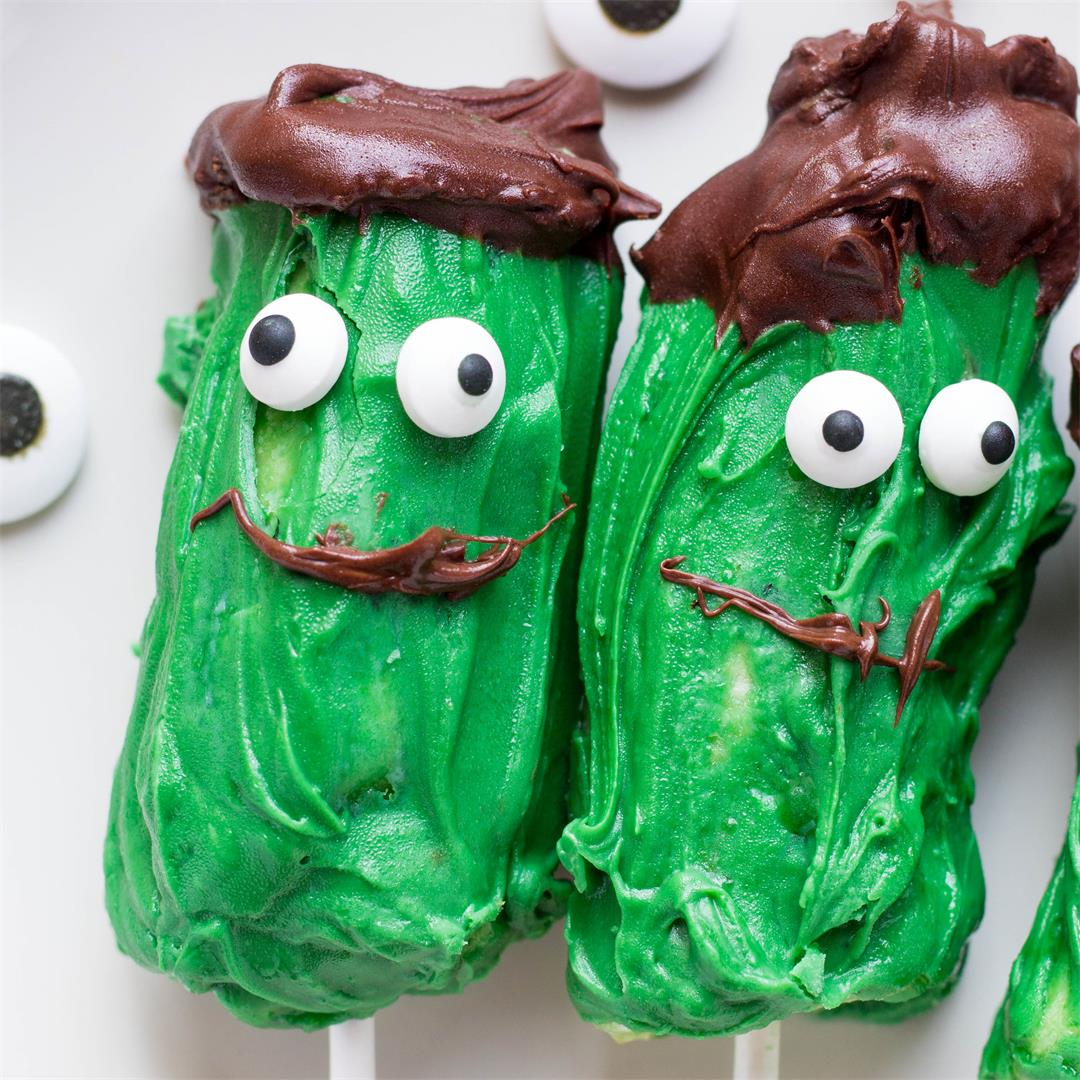 Frankenstein Banana Pops Halloween Treats