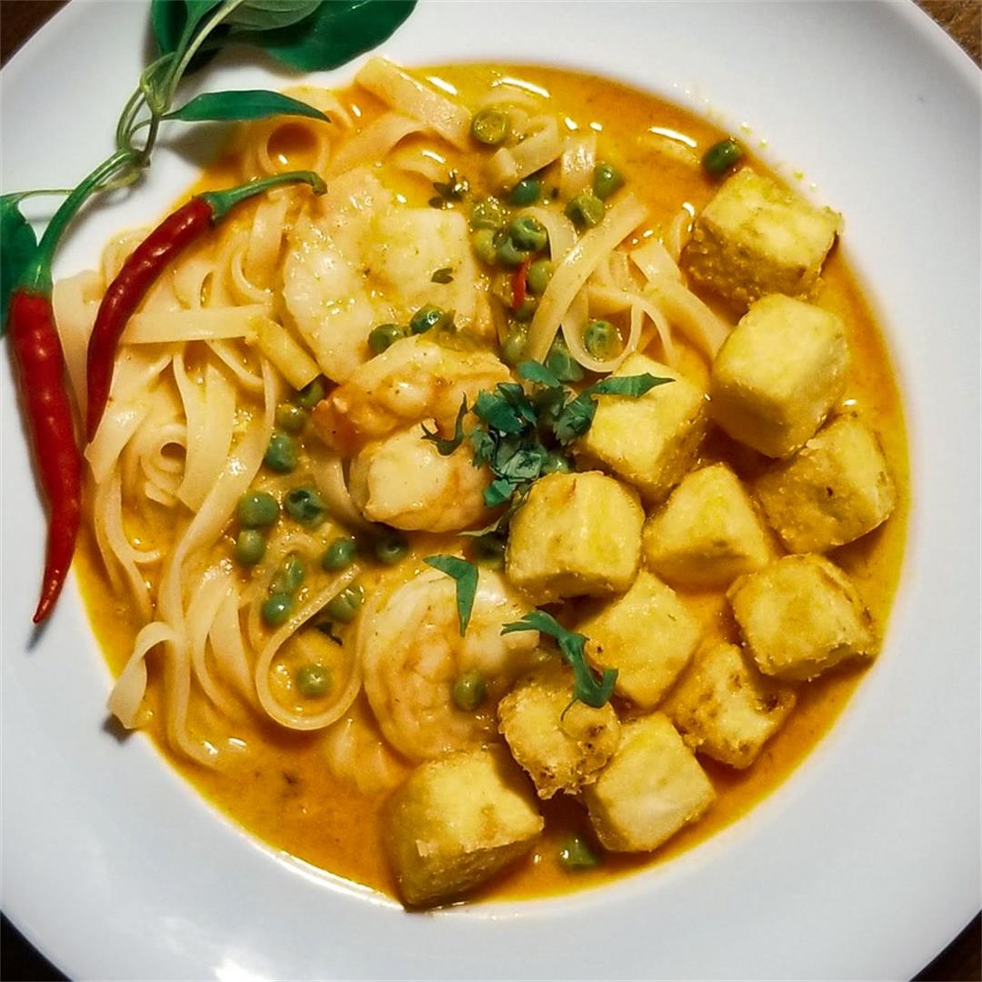 Spicy Thai Coconut Curry with Shrimp