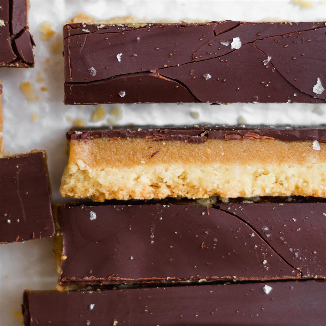Salted Caramel Dark Chocolate Millionaire's Shortbread