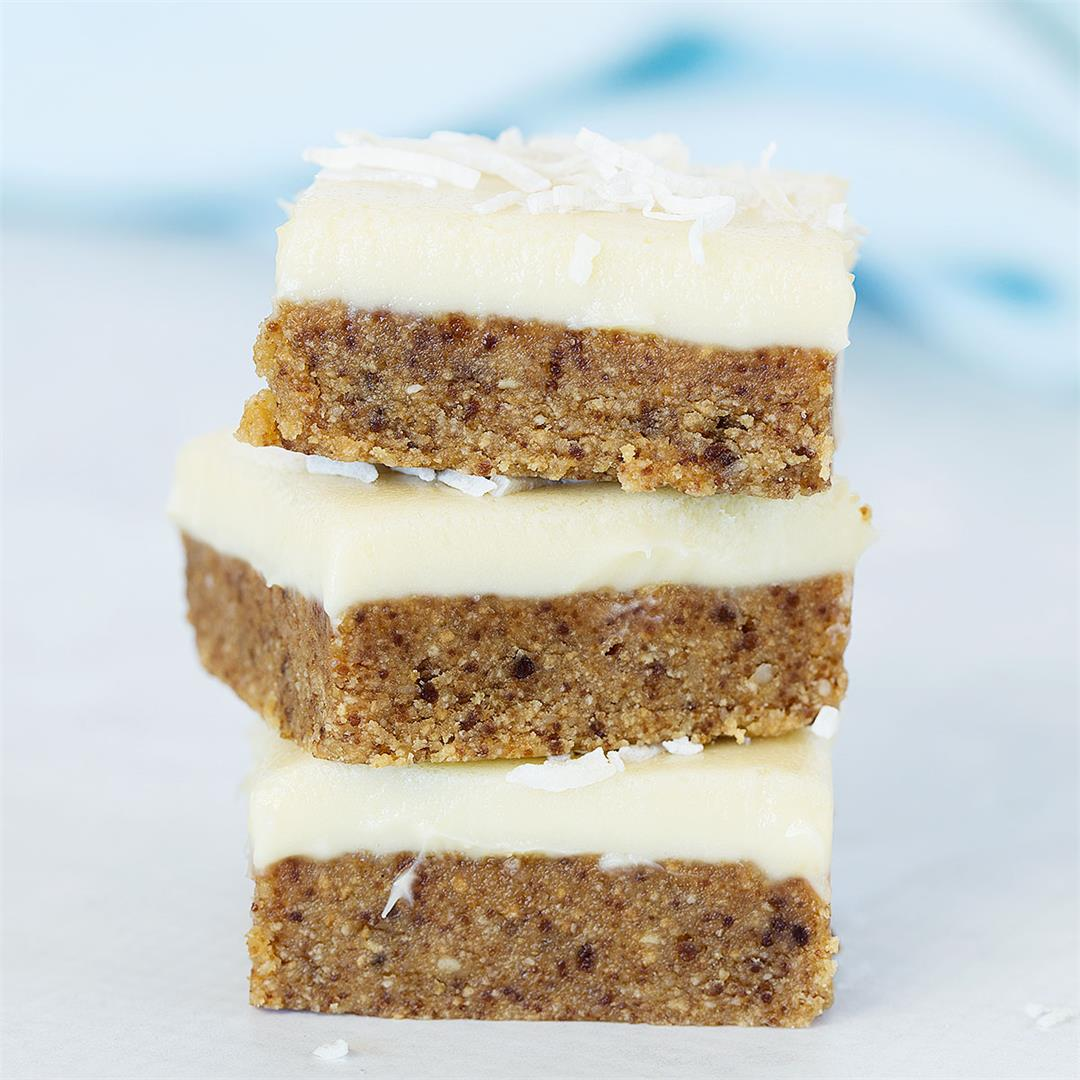 No-Bake Macadamia and White Chocolate Bars