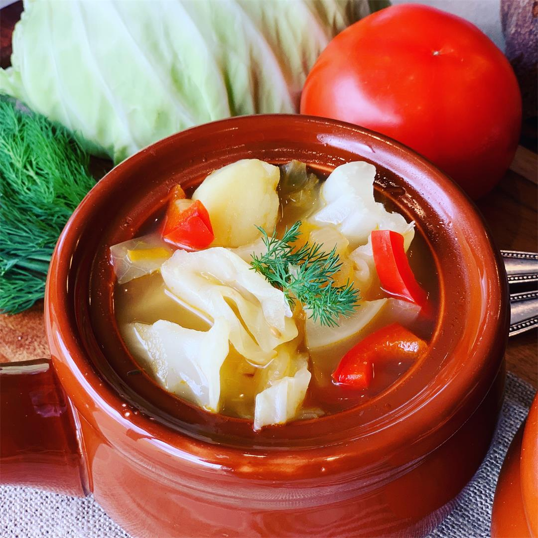 Vegetarian Cabbage Soup - Russian Shchi