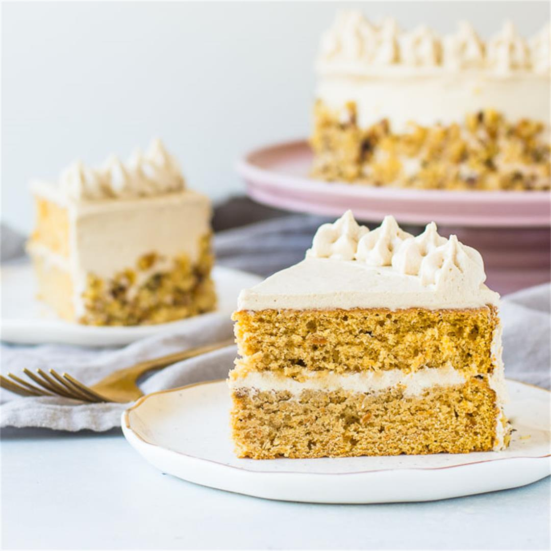 Sweet Potato Cake with Maple Cream Cheese Frosting