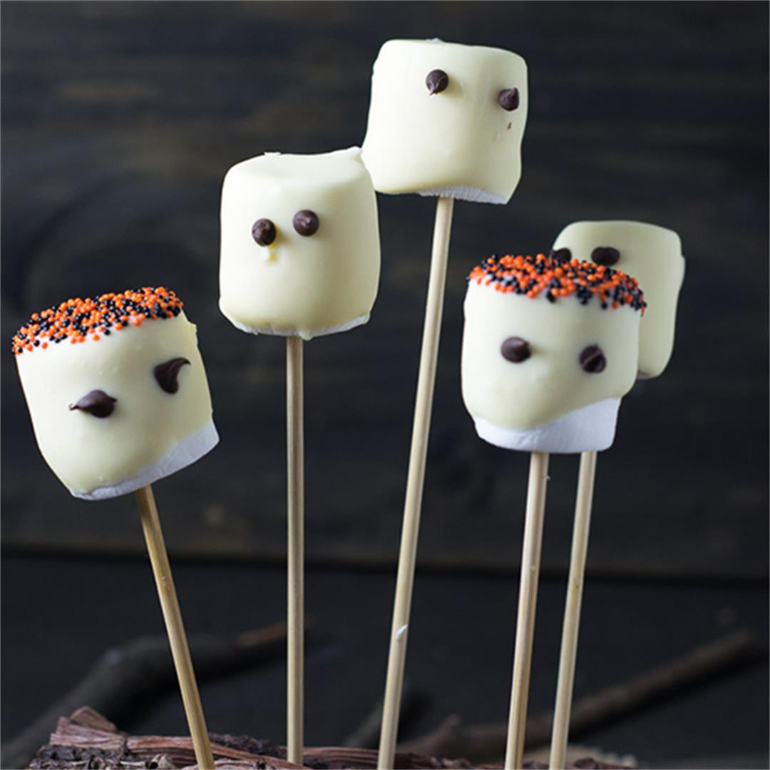 Halloween Recipe: Marshmallow Ghosts