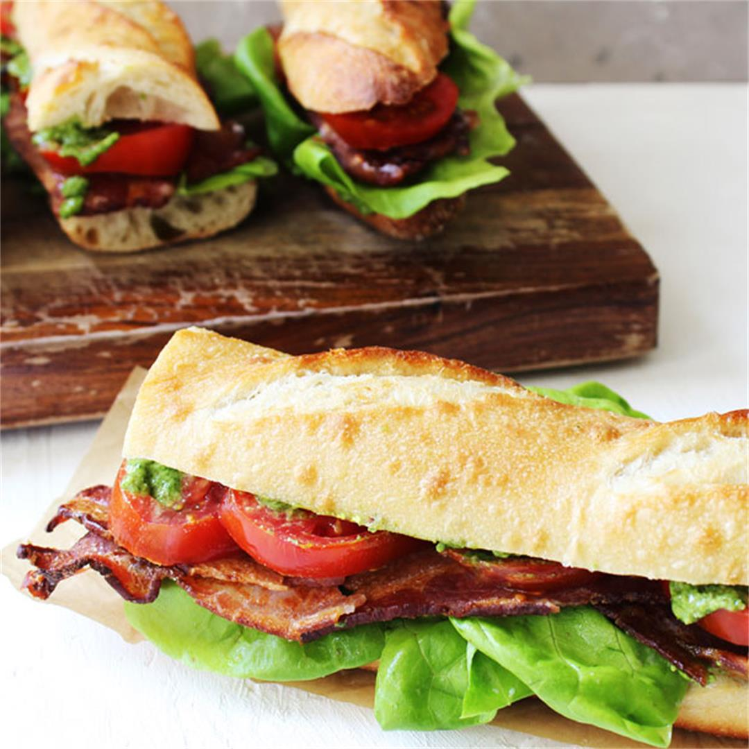 Rustic BLT Pesto Sandwiches