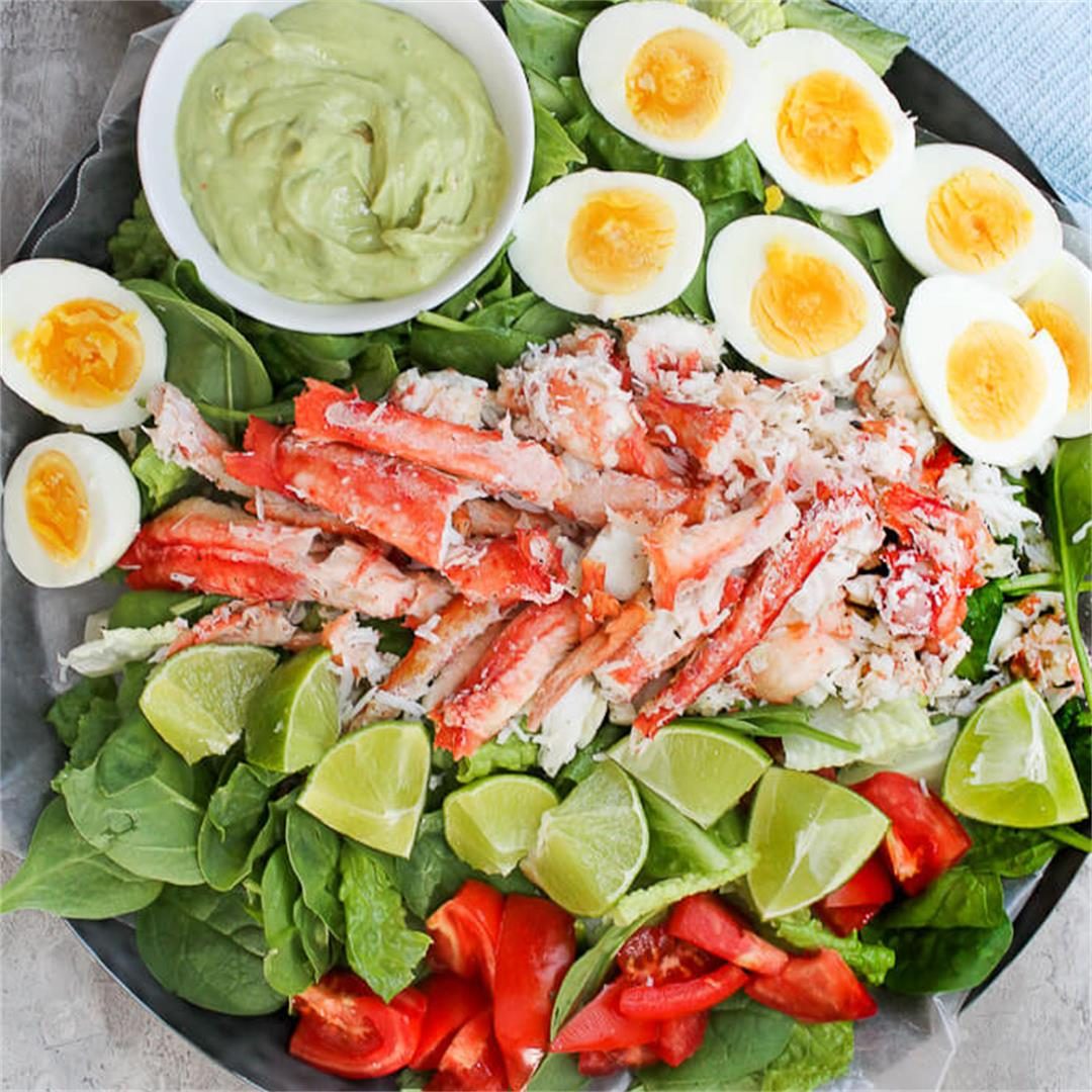 King Crab Salad with Avocado Dressing
