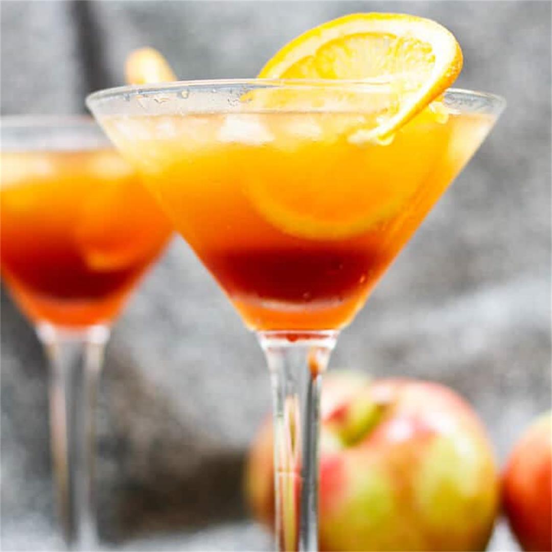 Kentucky Sunrise with Apple Cider (Bourbon Cocktail)