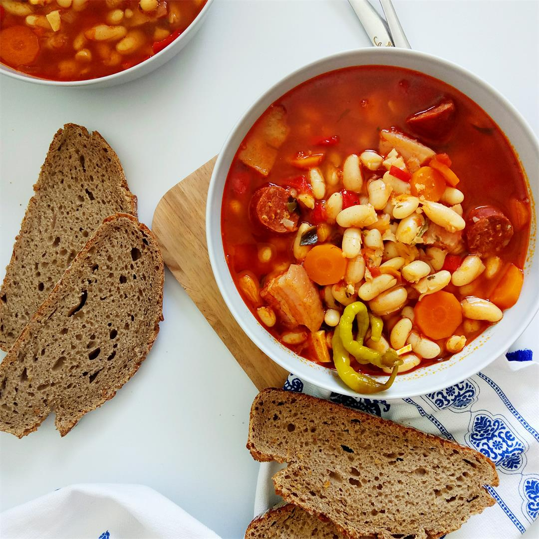 Comforting Chorizo Sausage and Bean Stew
