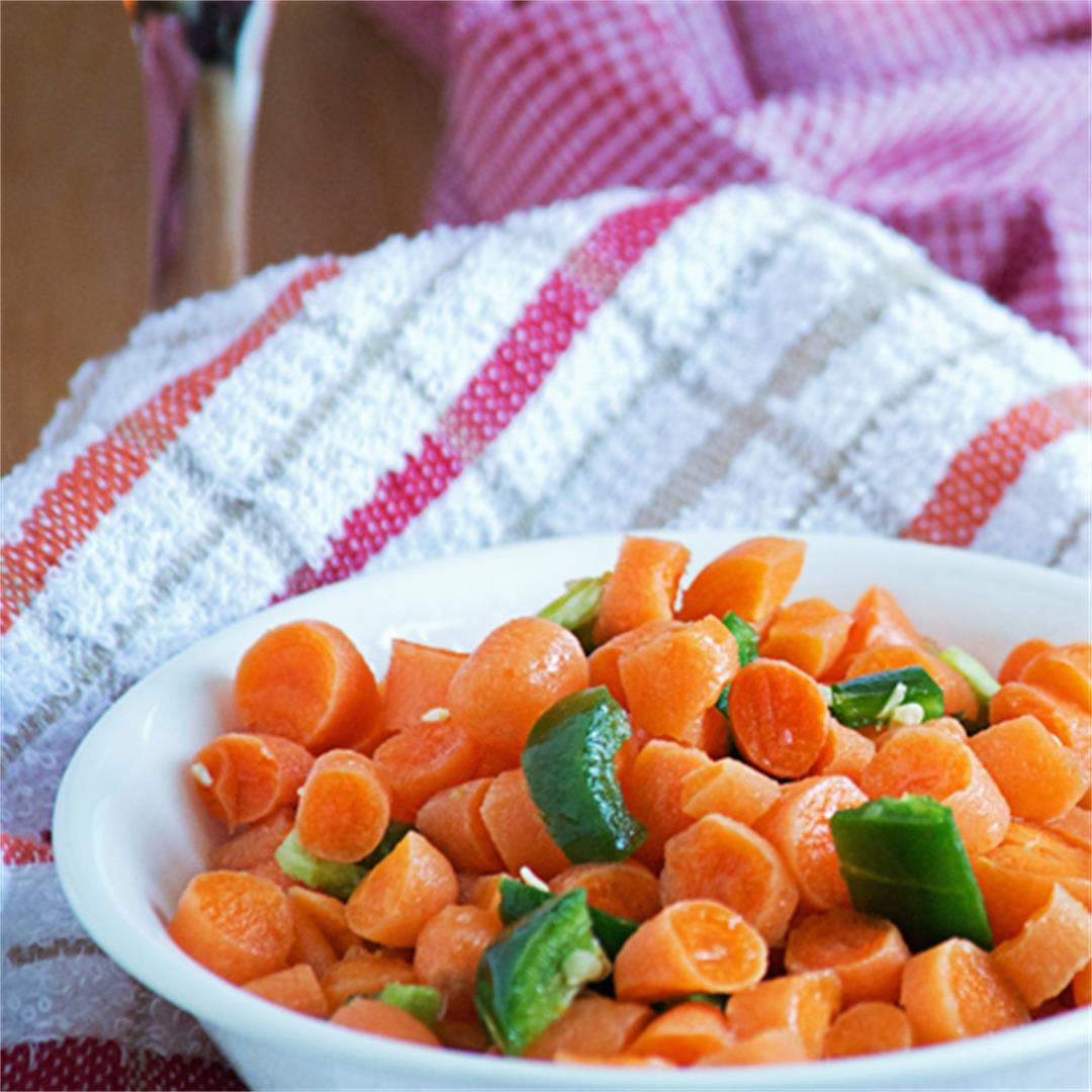 Baby carrot salad recipe, easy and spicy