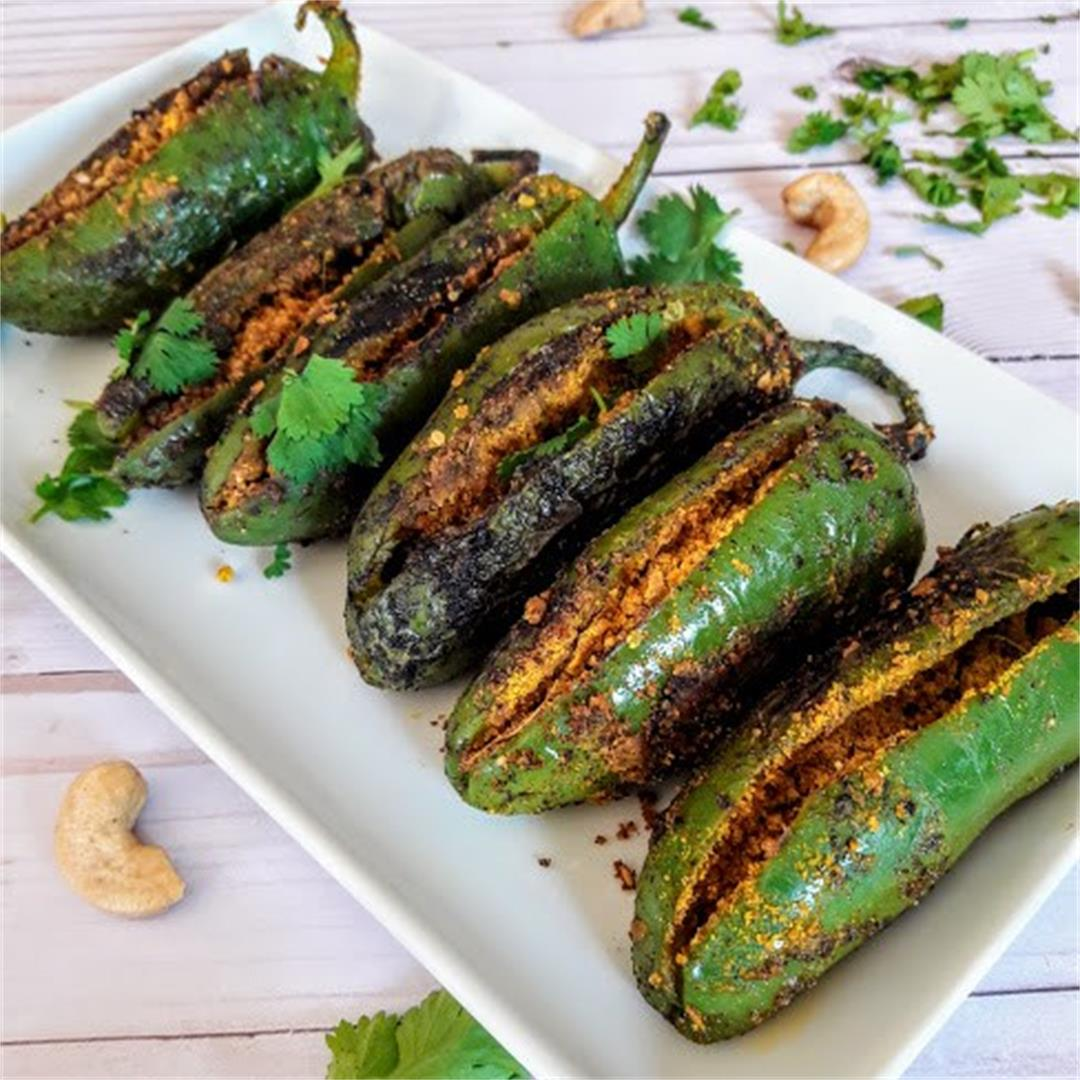 Indian Stuffed Jalepeno Peppers