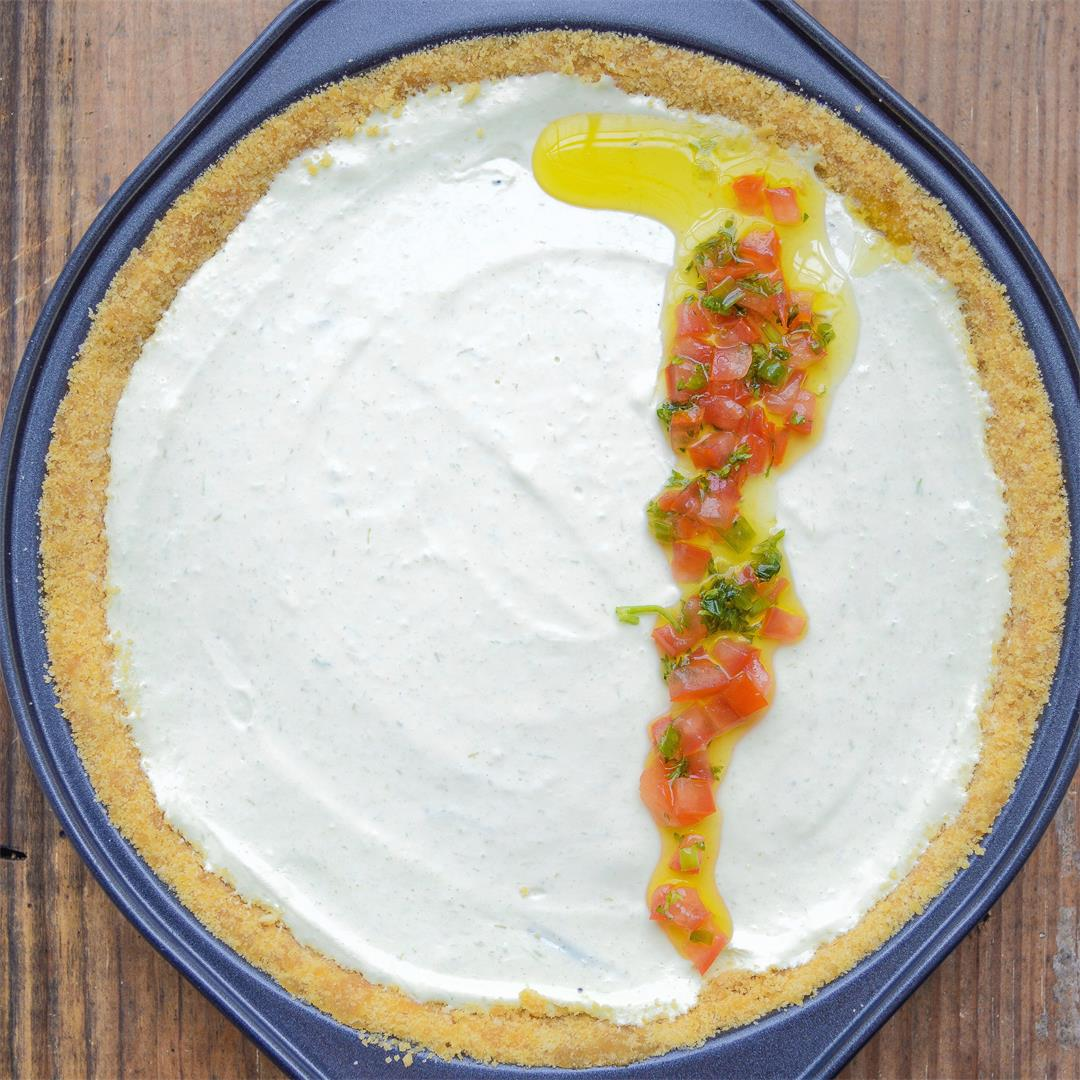 No-bake savory cream cheese pie