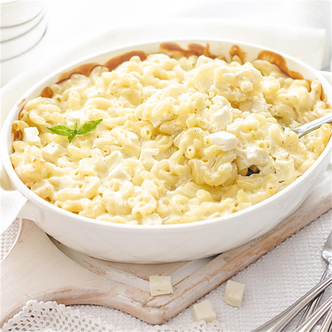 5 Ingredient Mediterranean Feta Mac and Cheese