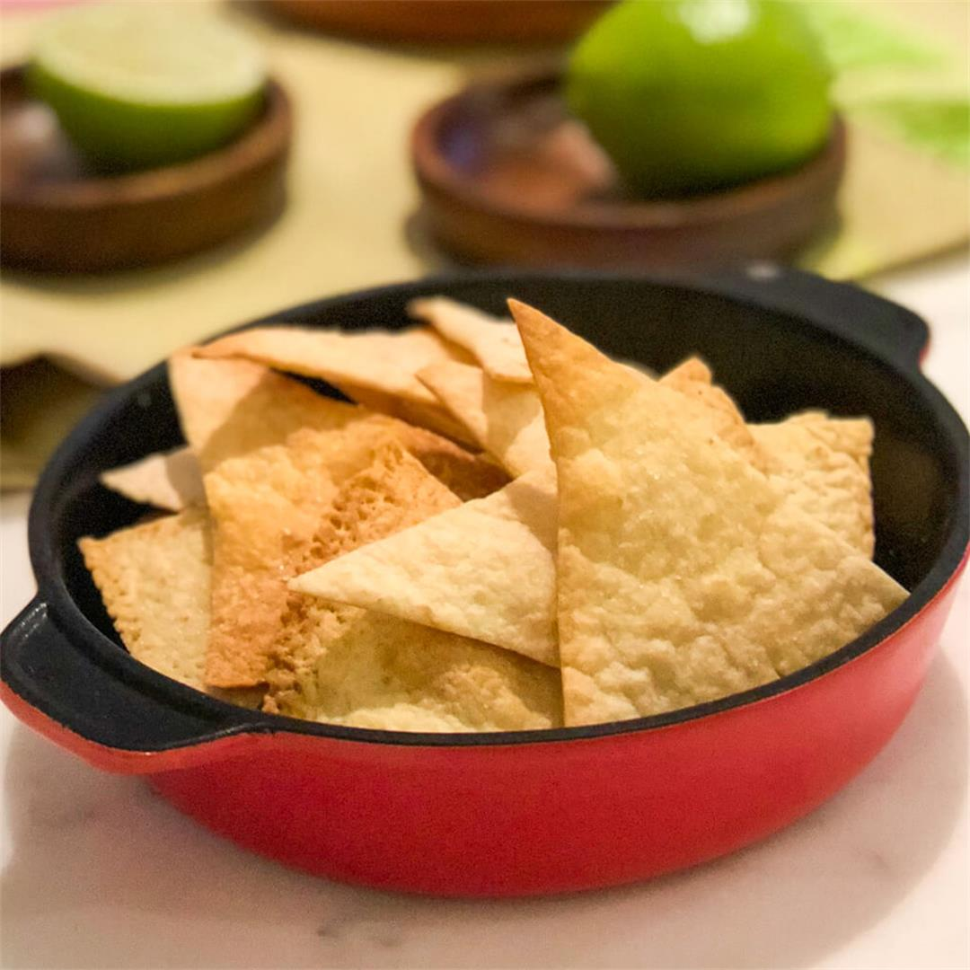 Lazy Low-Carb Tortilla Chips (Keto)