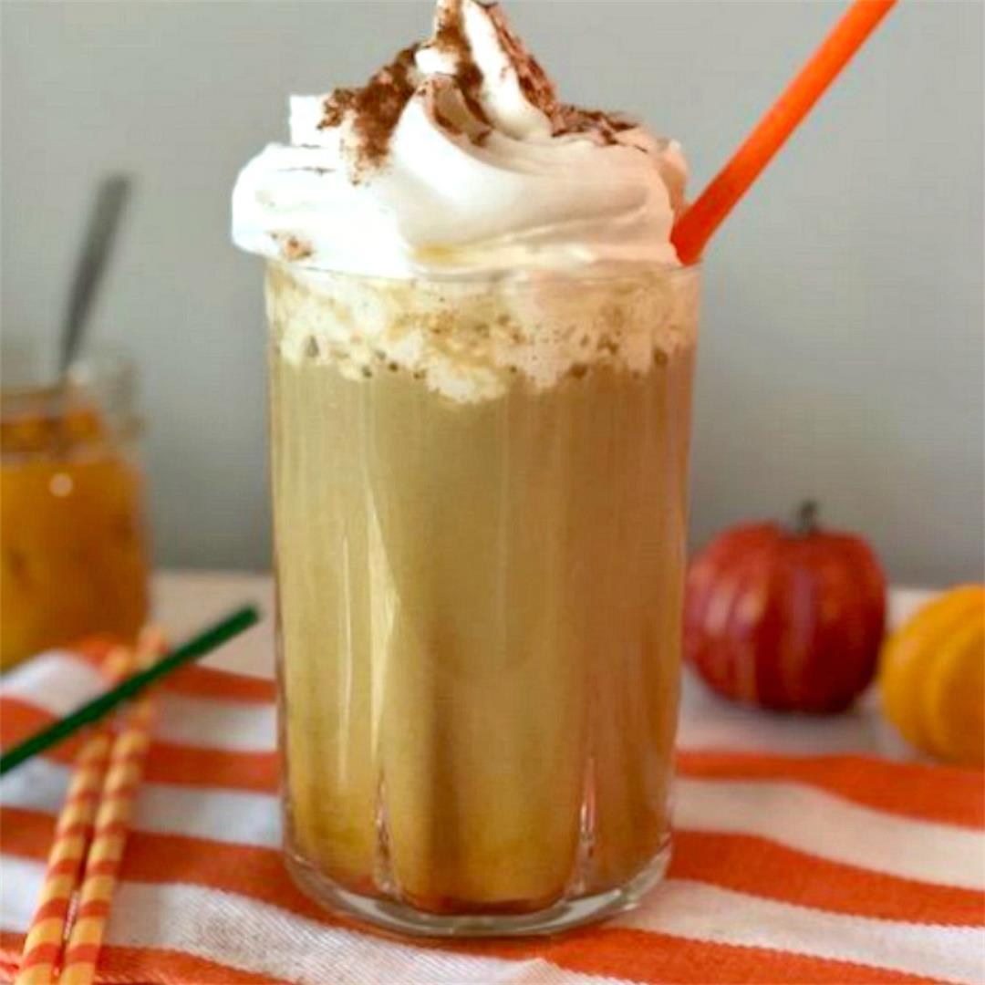 Copycat Starbucks Pumpkin Frappuccino