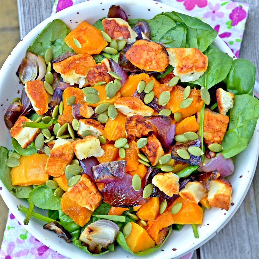 Super Pumpkin & Halloumi Salad