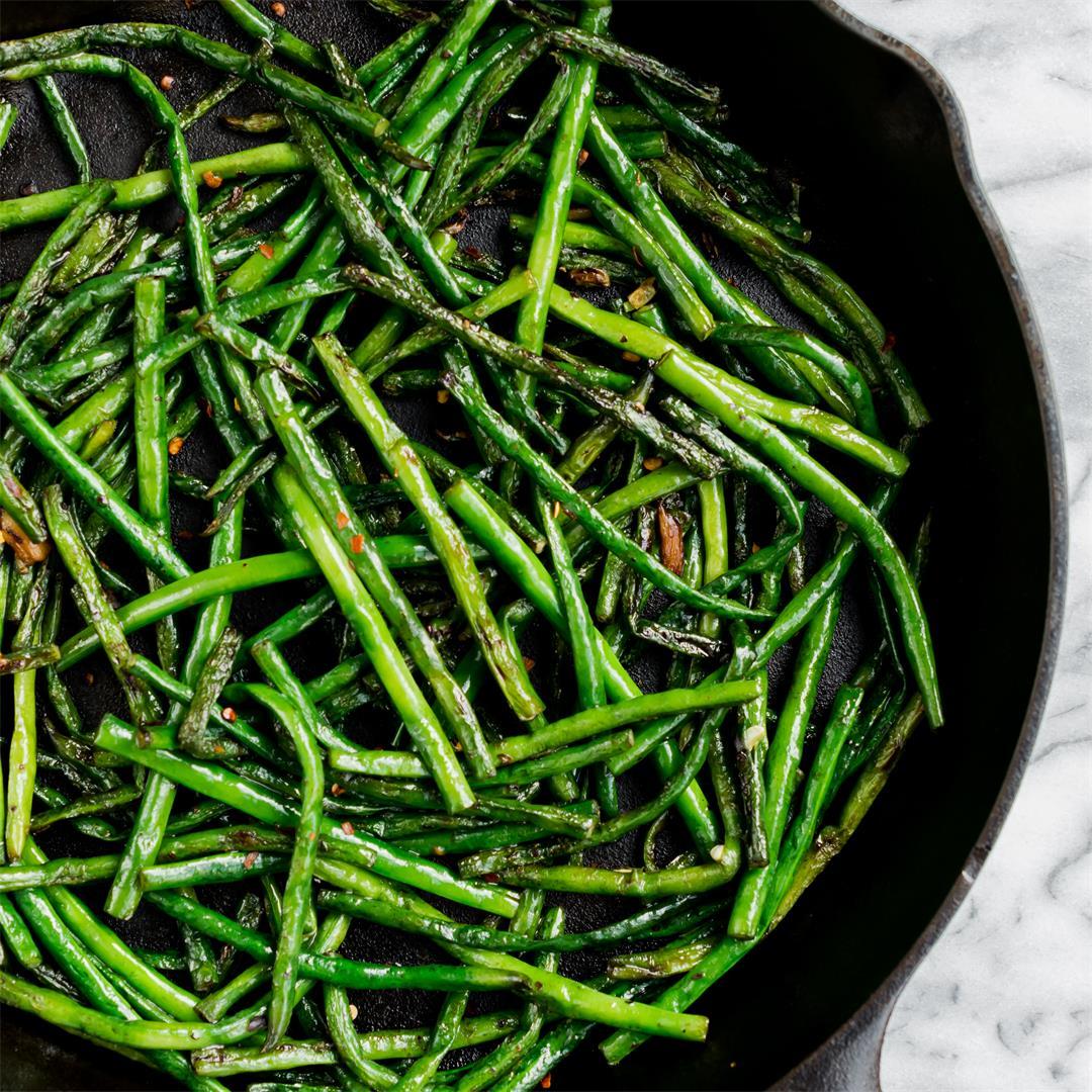 Blistered Long Beans