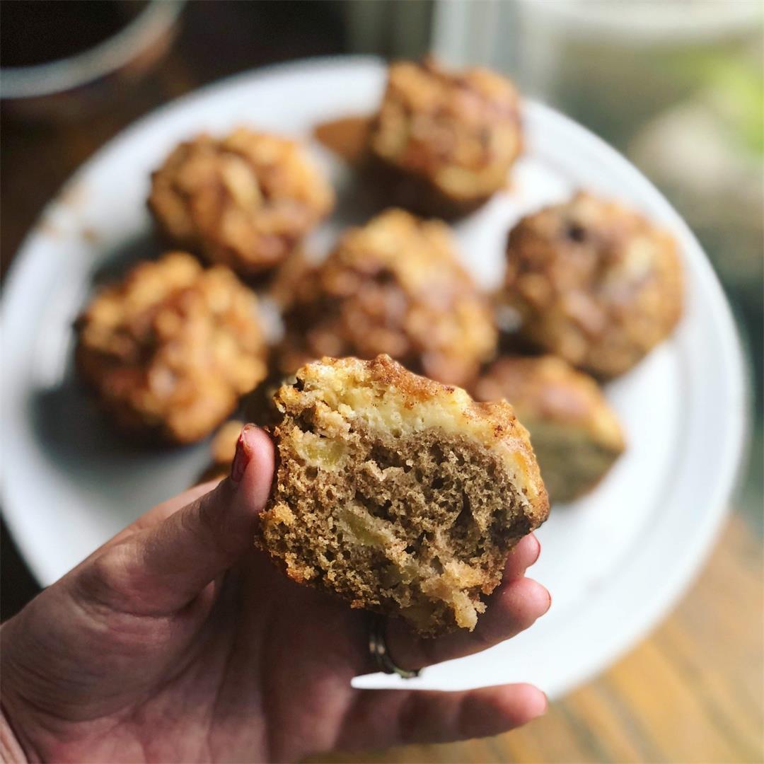 Apple Cinnamon Cheesecake Muffins
