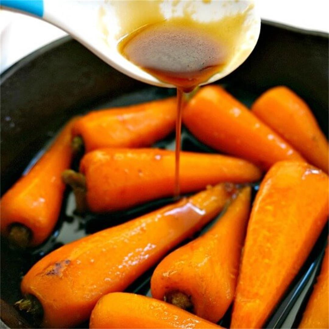 Soy Honey Glazed Baby Carrots