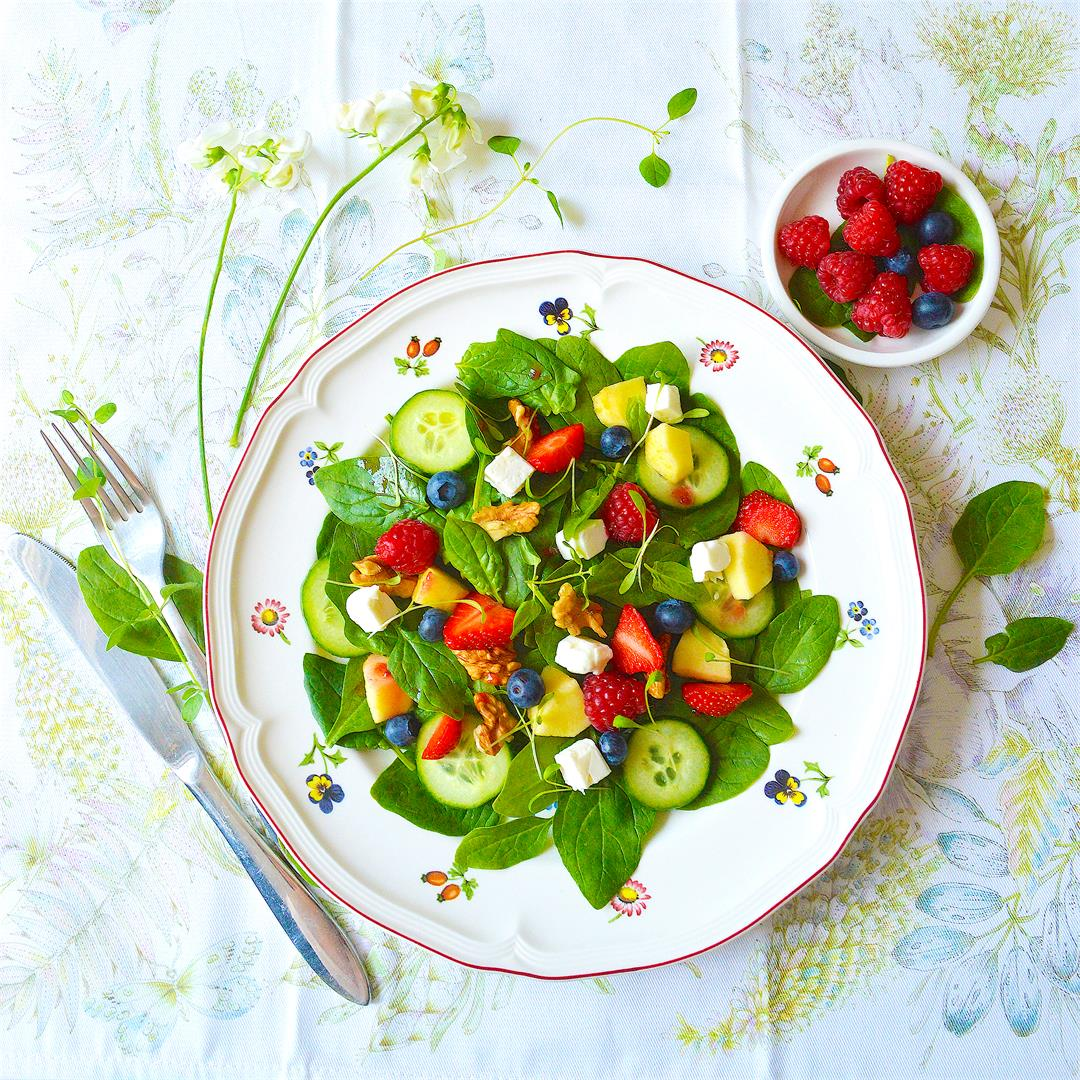 Baby Spinach Summer Salad