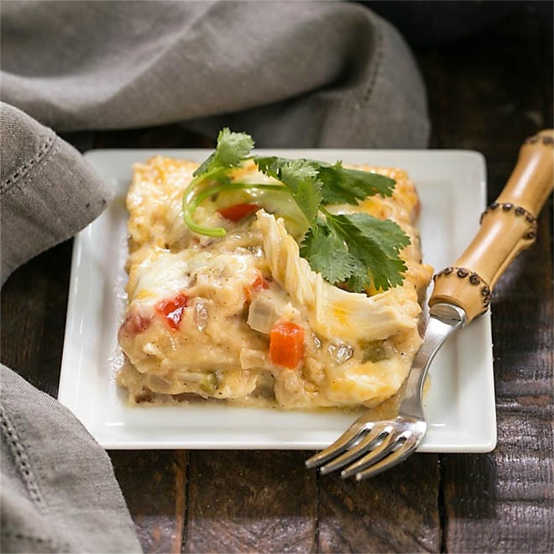 King Ranch Chicken Casserole from Scratch (no canned soup!)