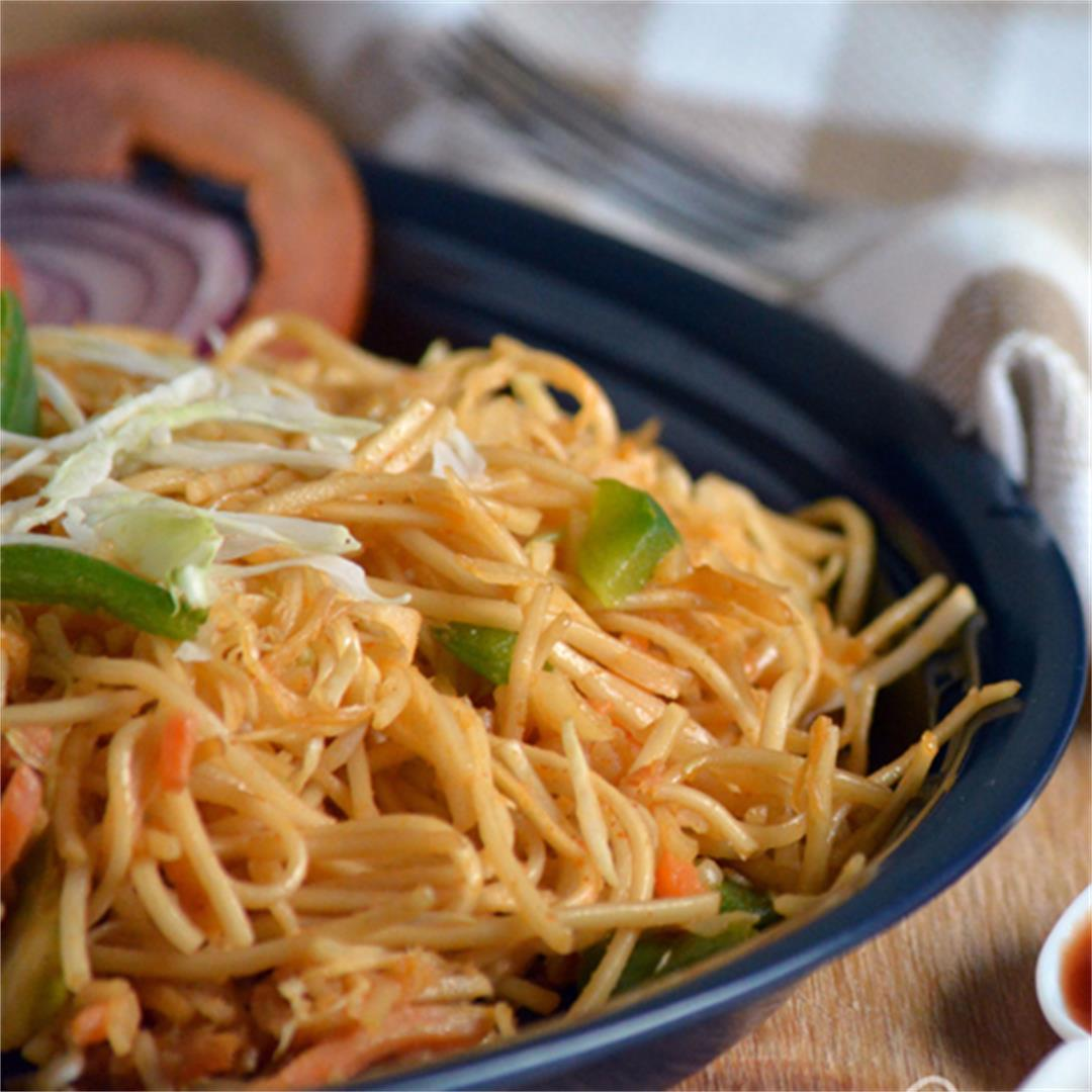 Hot and spicy Szechuan noodles