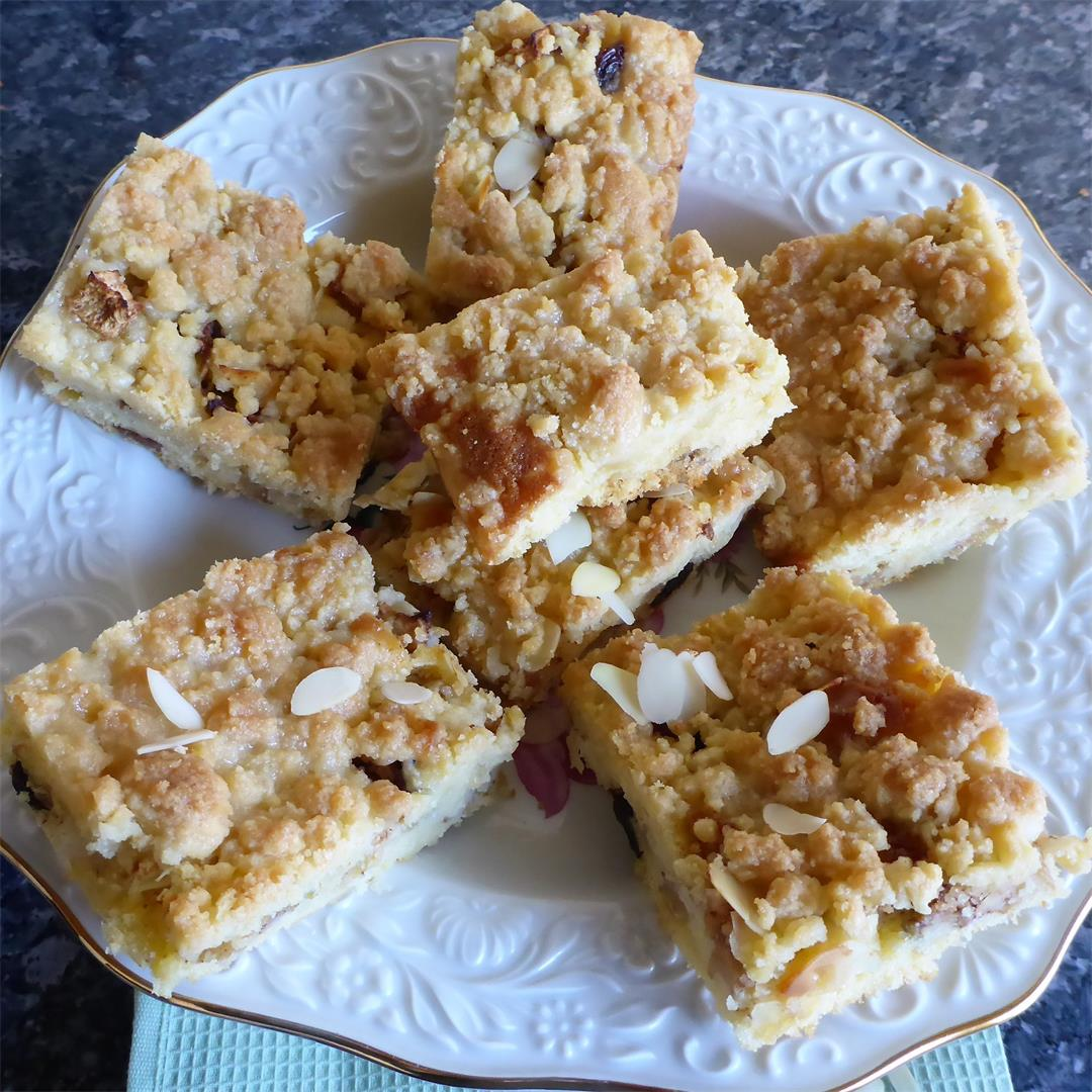 Best German - Style Apple Crumb Sheet Cake Ever!