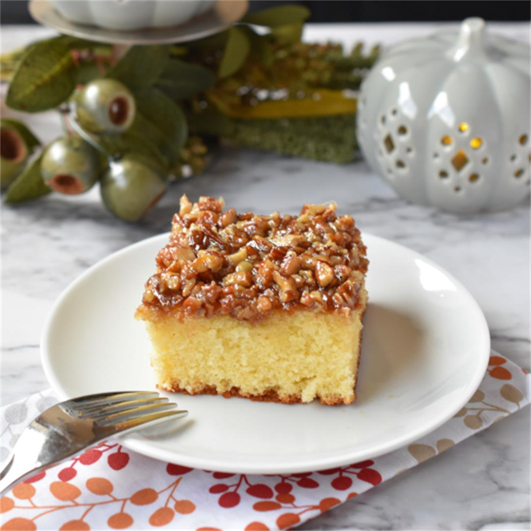 Lazy Daisy Cake-A Hot Milk Cake with Delicious Broiled Topping!