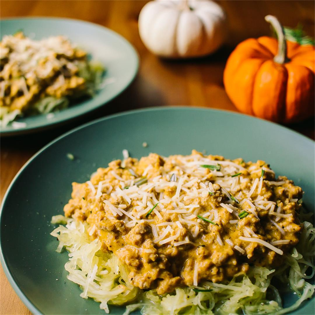 Low Carb Pumpkin Rosemary Sauce with Turkey