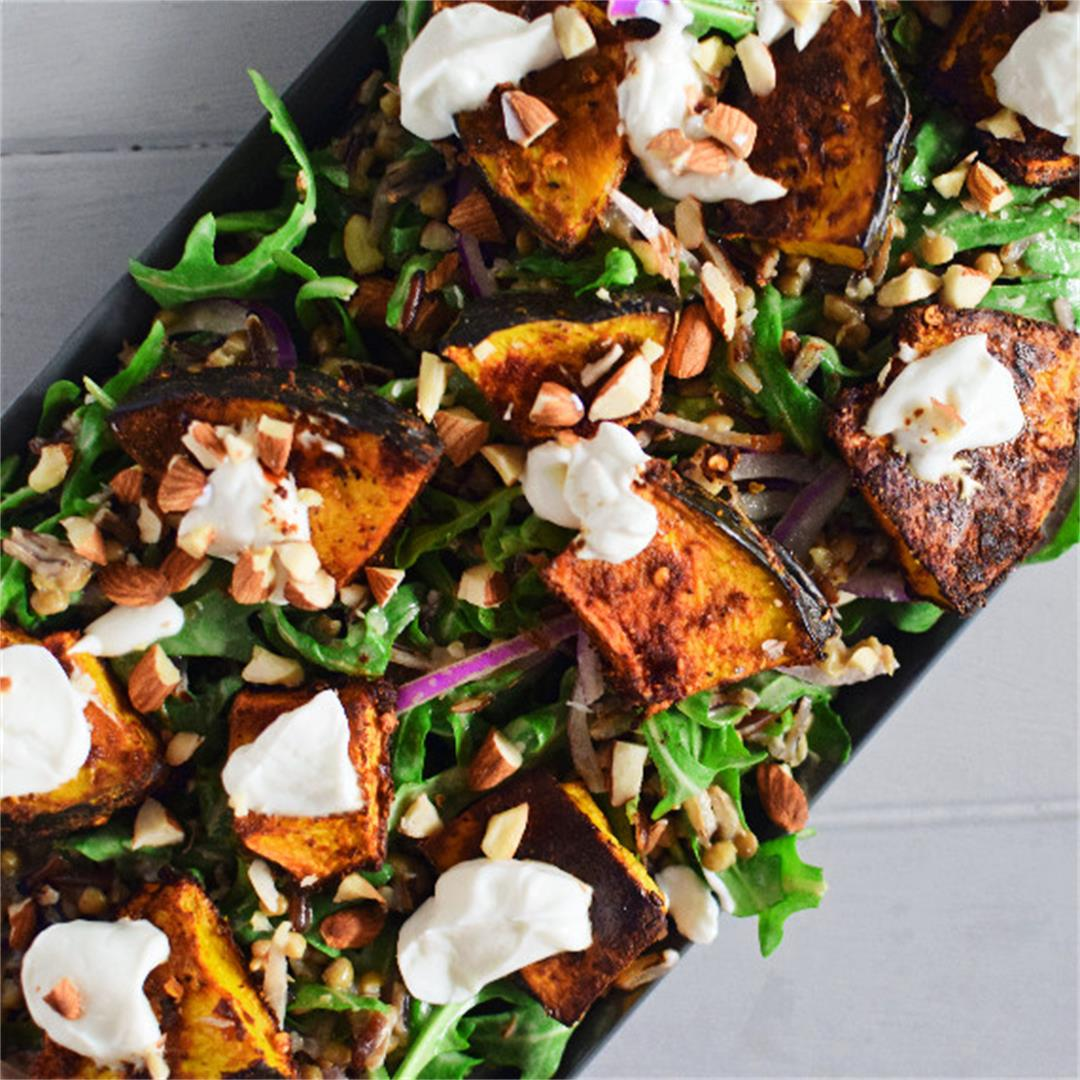 Spiced Pumpkin, Wild Rice and Lentil Salad