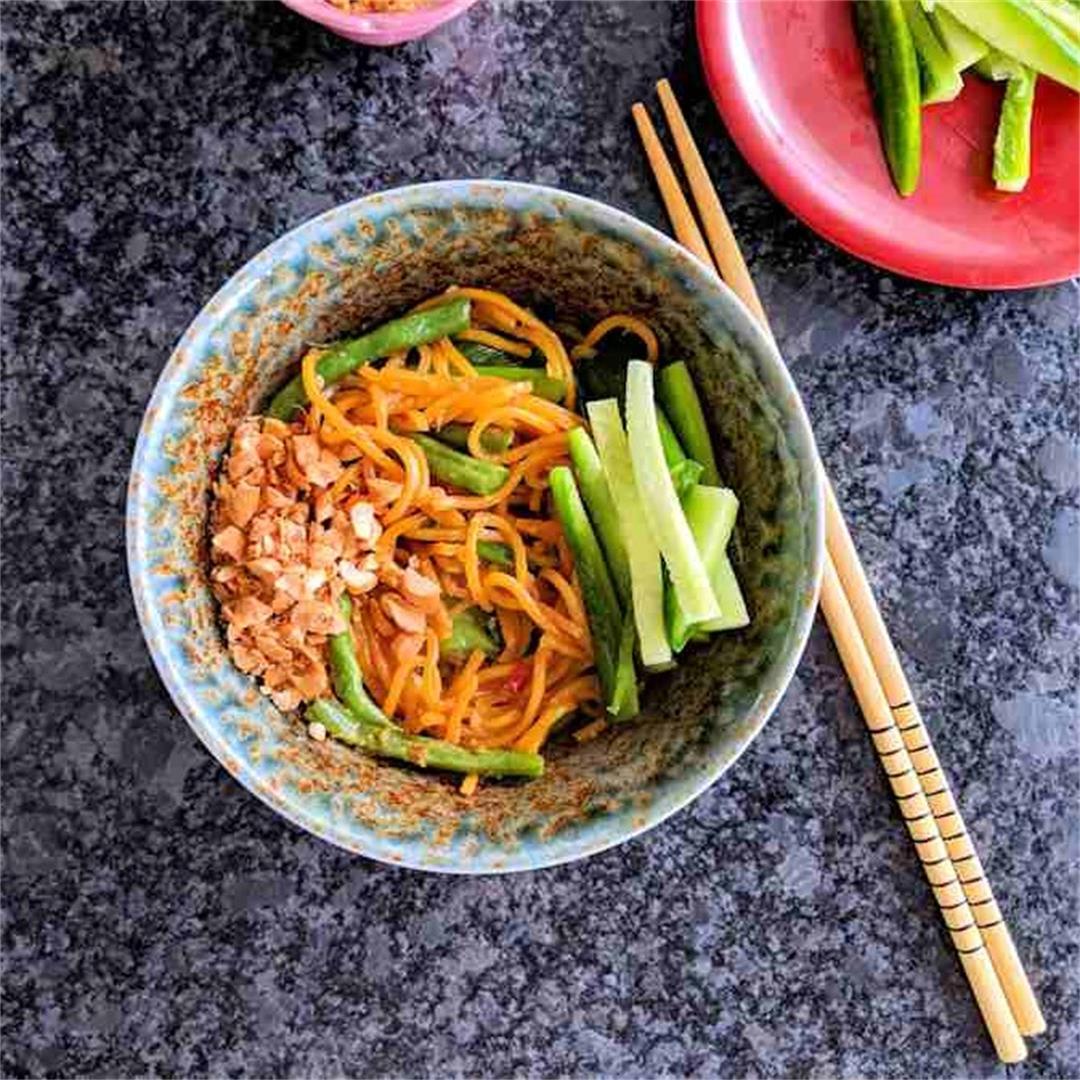 Takeaway style sesame noodles