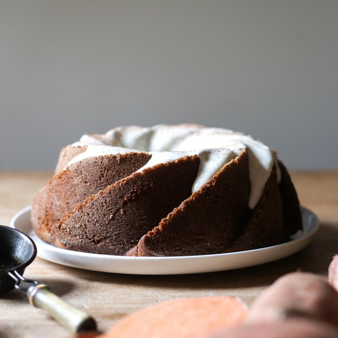 Sweet Potato Cinnamon Swirl Cake {gluten-free}