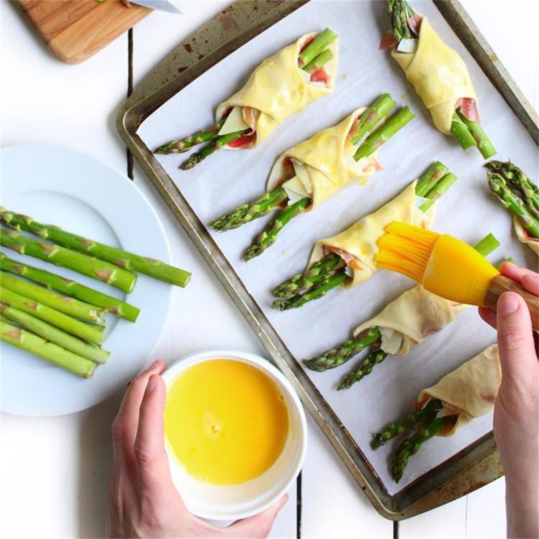 Proscuitto, Parmesan and Asparagus Bundles