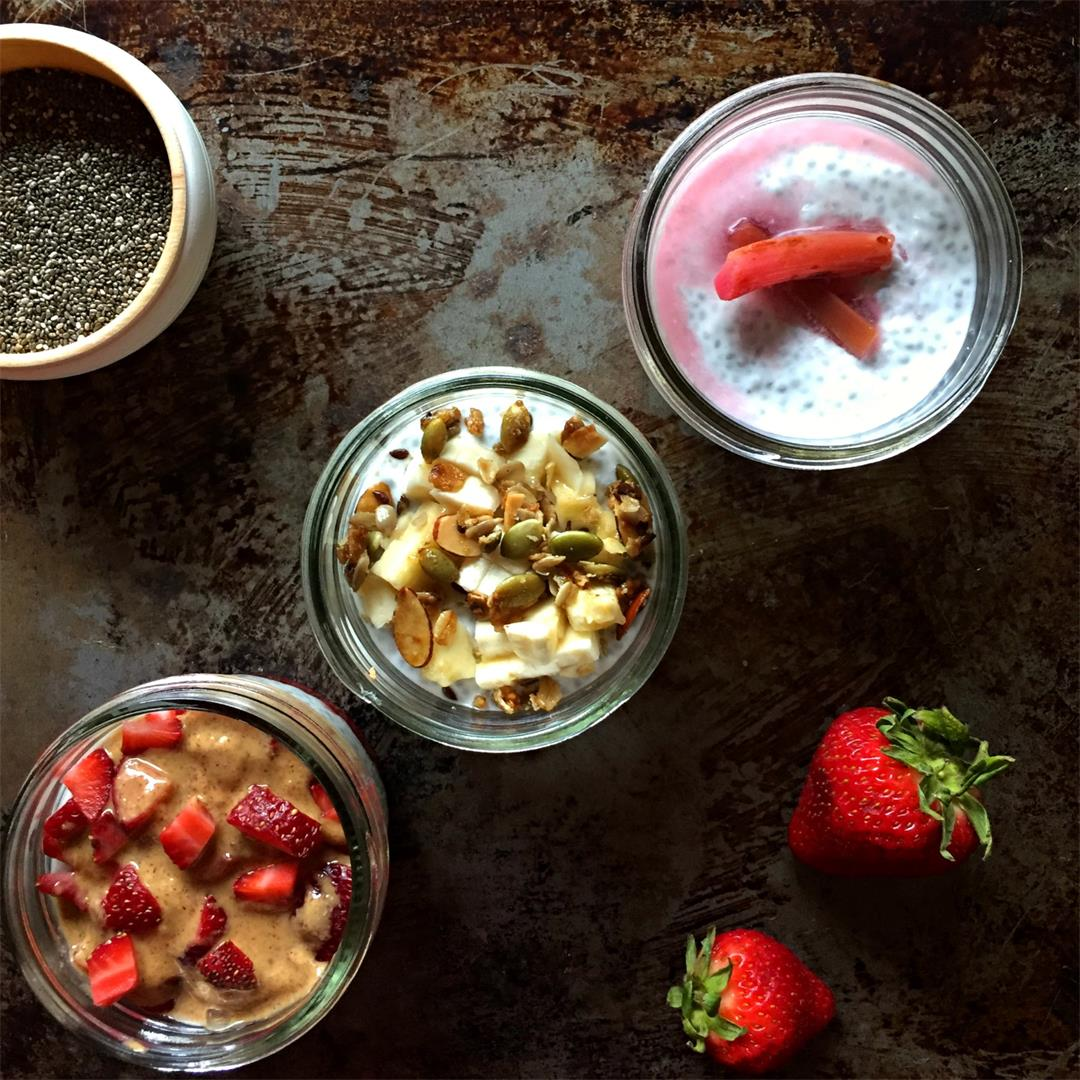 Coconut Chia Seed Pudding Three Ways