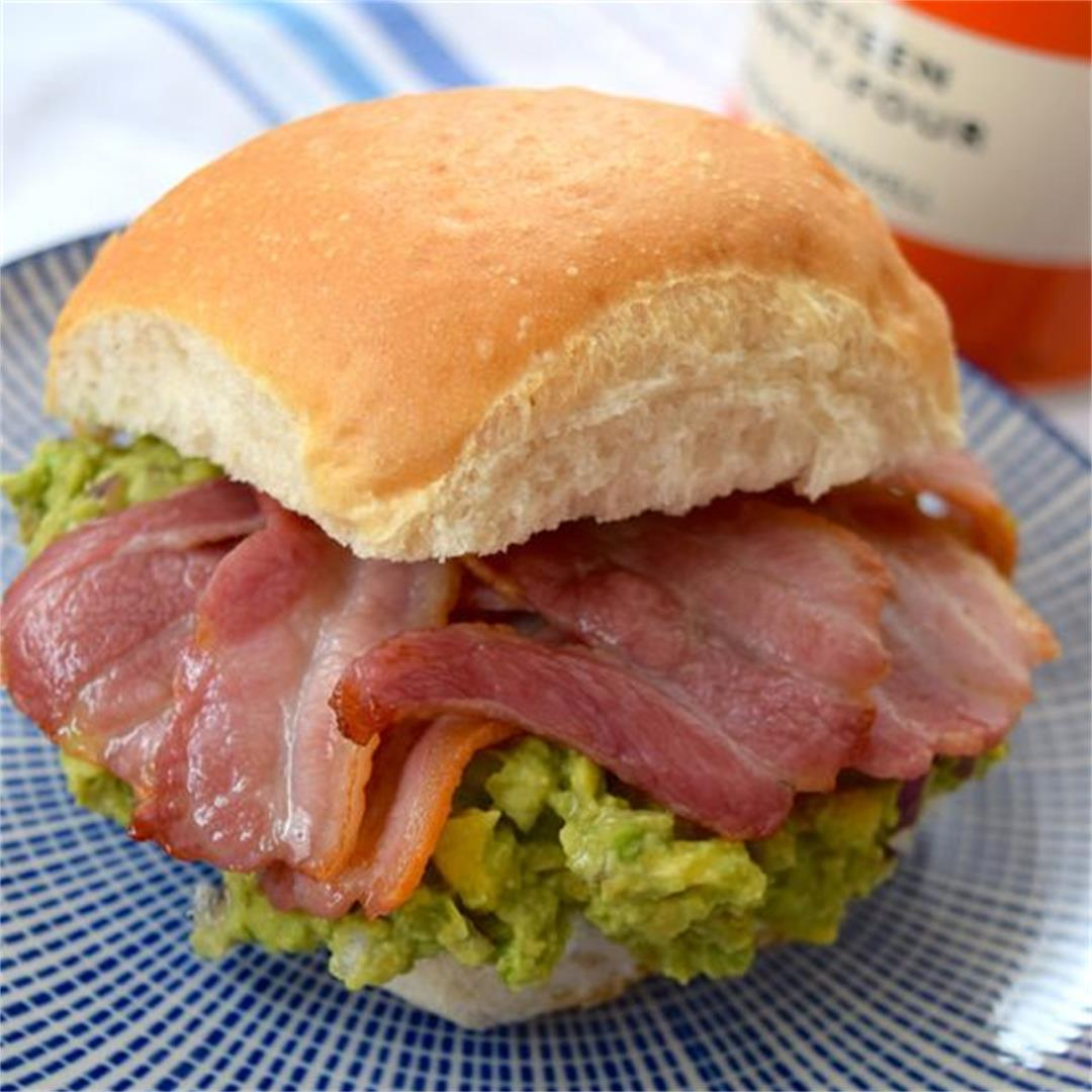 Bacon Guacamole Breakfast Sandwiches