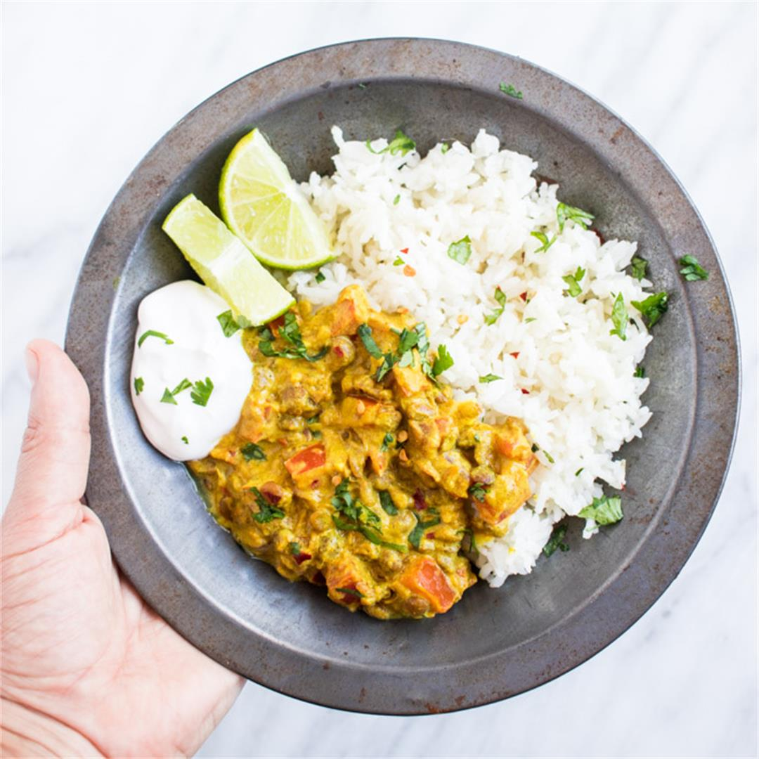 15-Minute Low FODMAP Lentil Dal