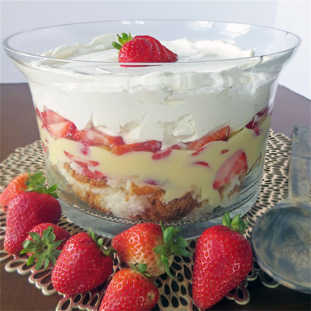 Strawberry Vanilla Trifle or