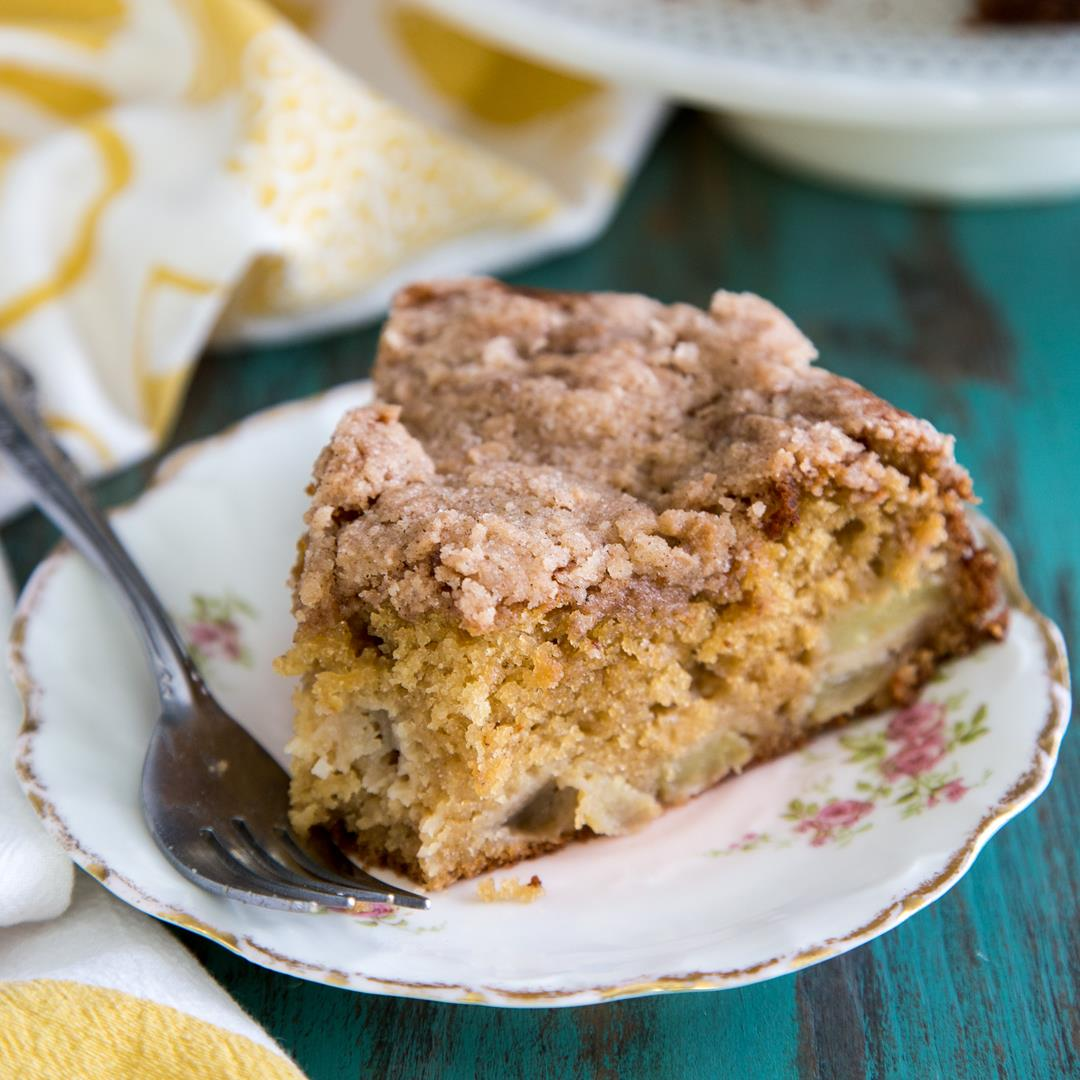 Cardamom Apple Coffee Cake