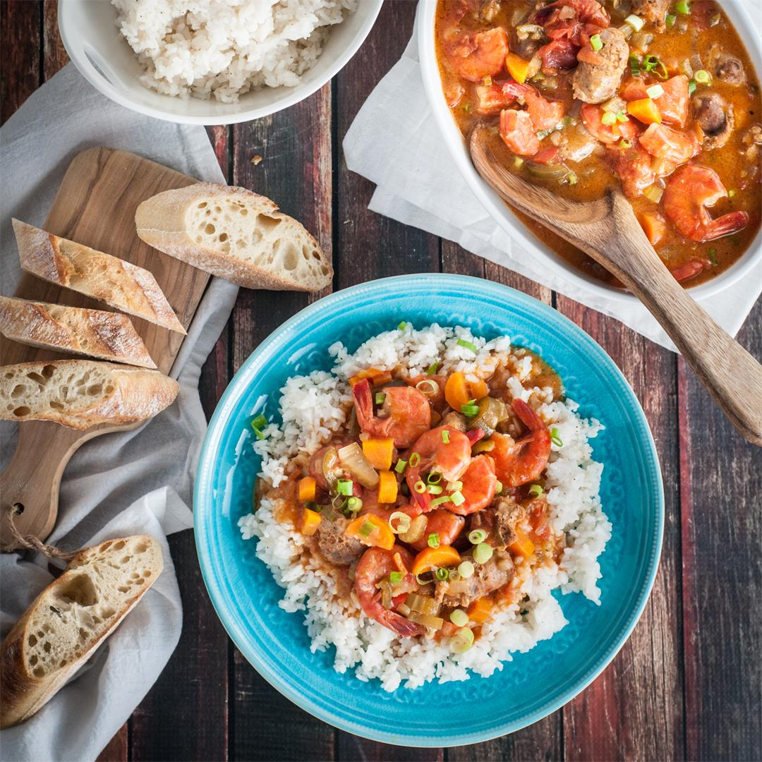 Delicious Shrimp and Sausage Gumbo with a Twist