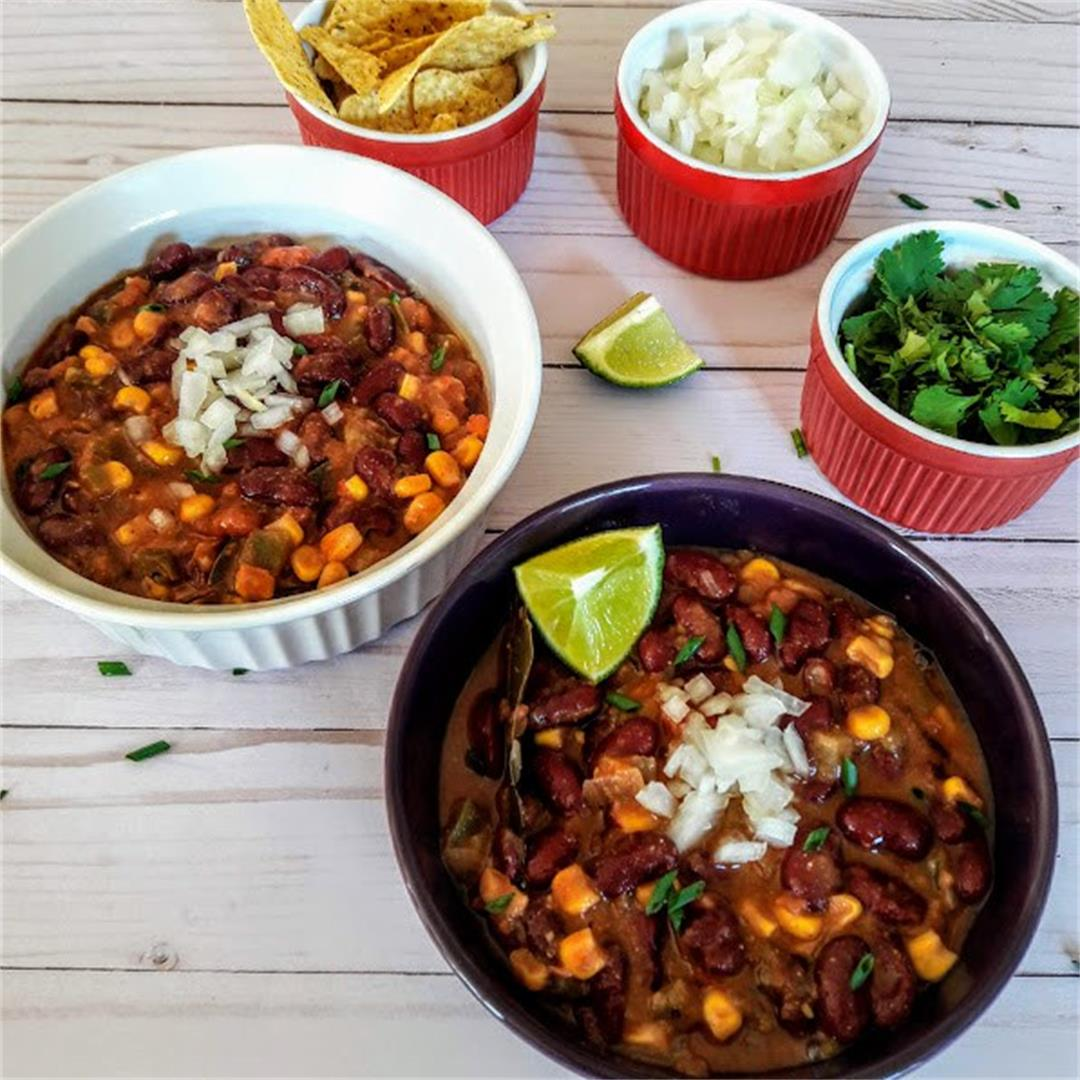 Vegetarian Bean Chili InstantPot
