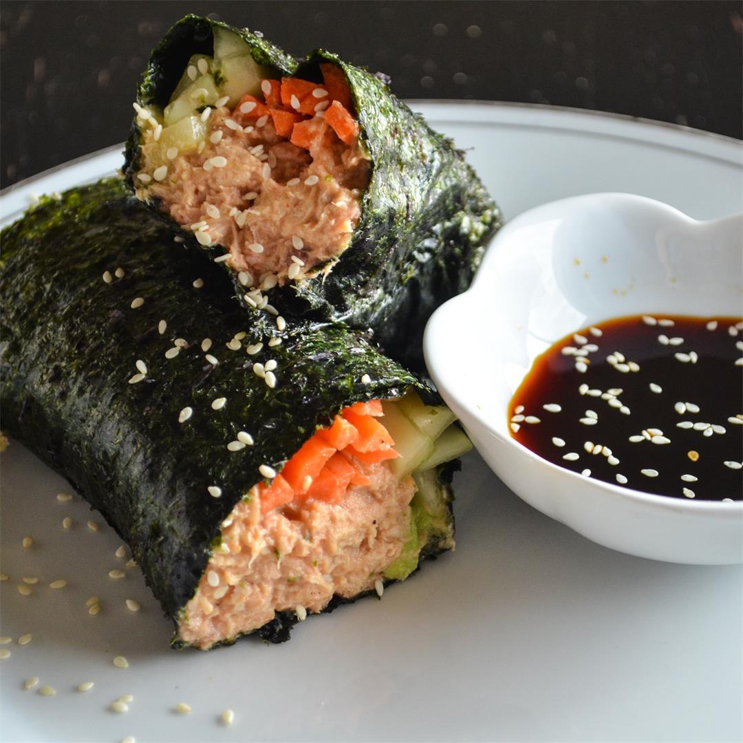 Spicy Tuna Wrap - Paleo, Whole30, Gluten Free