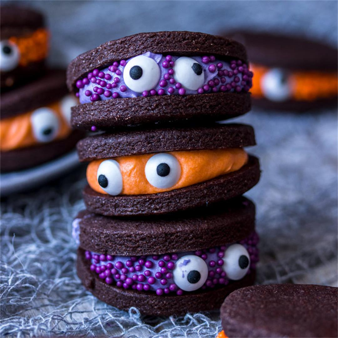 Chocolate Monster Halloween Cookies