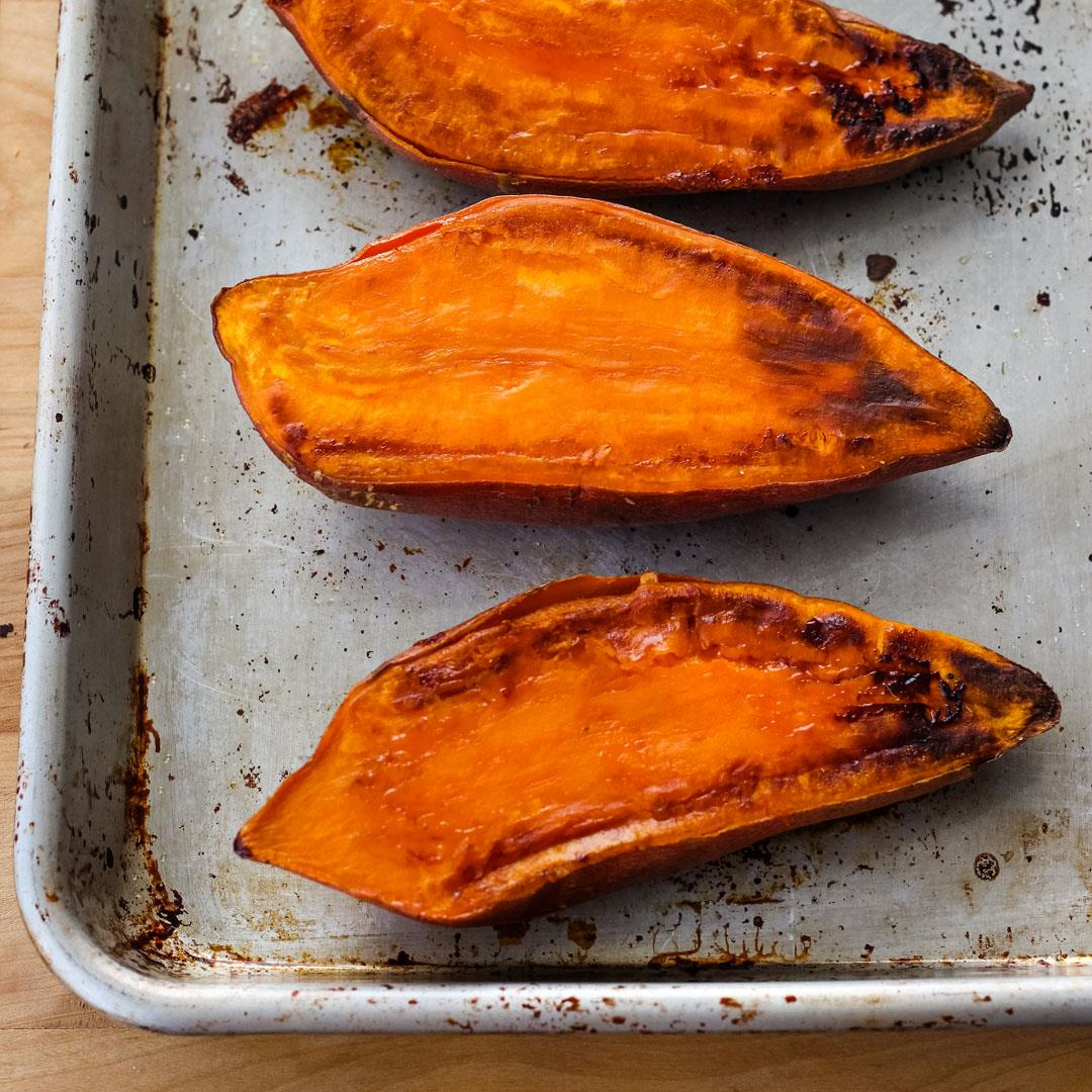 Quick Baked Sweet Potatoes (Without the Microwave!)
