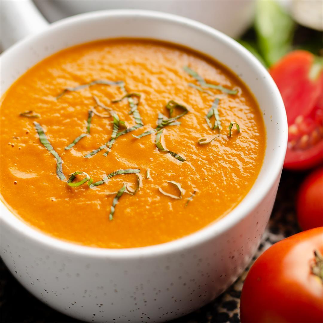 Pressure Cooker Creamy Garden Tomato Soup