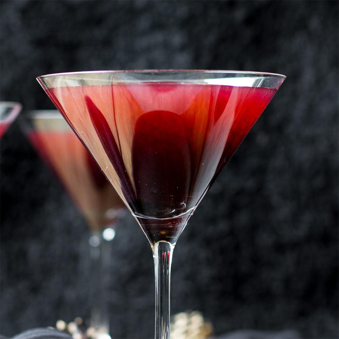 Poison Blackberry Martini - Halloween Cocktail