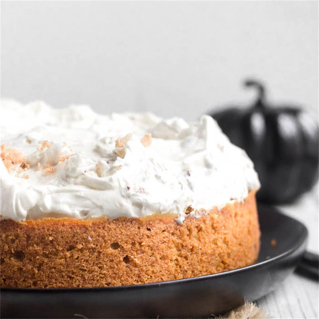 Pumpkin Cream Cheese and candied Pecans Cake