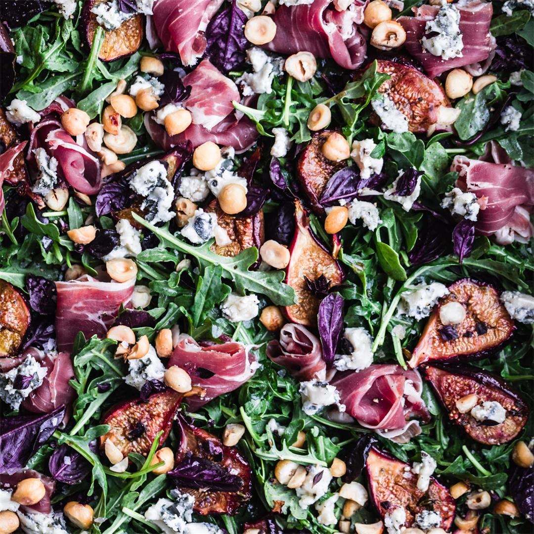 Caramelized Fig & Prosciutto Salad