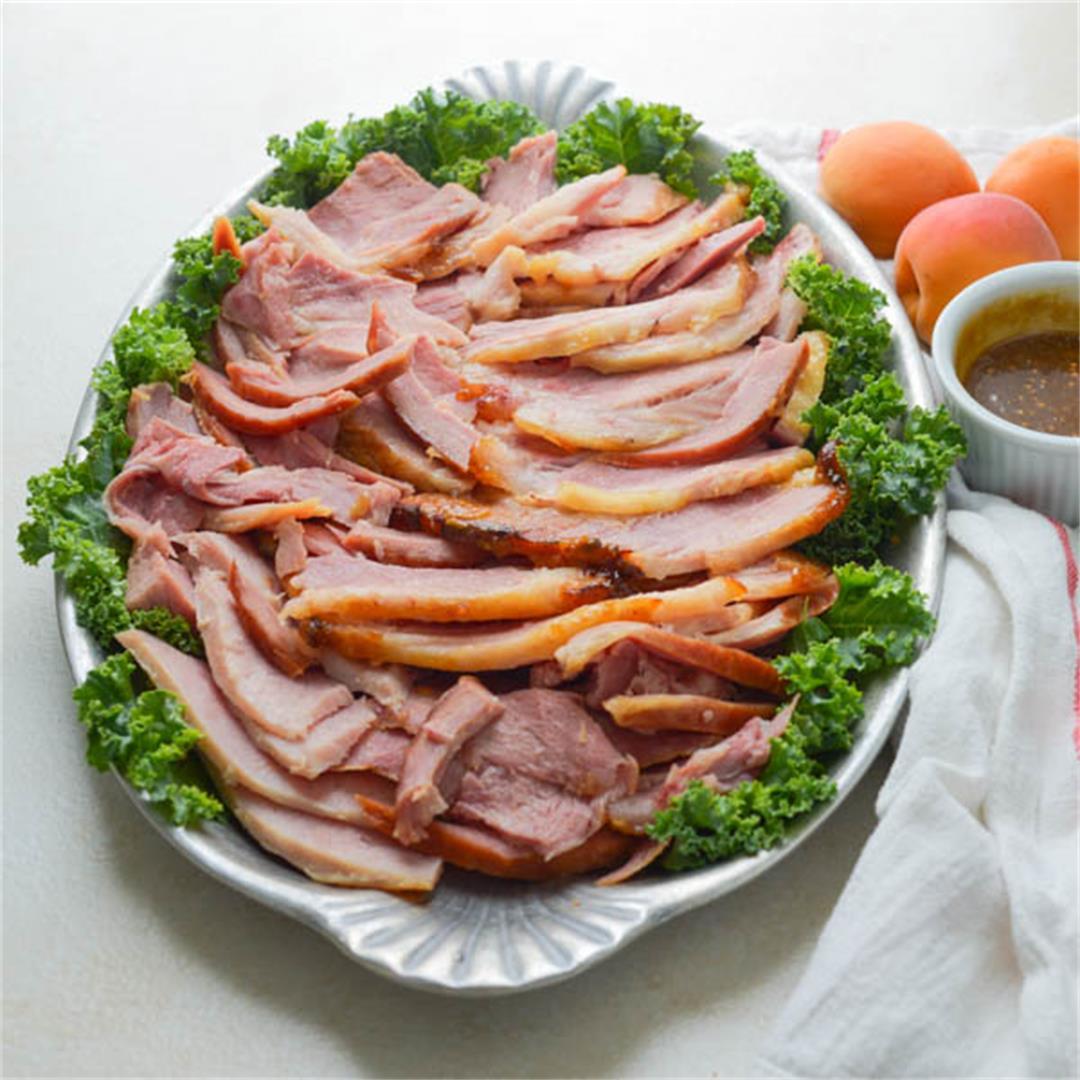 Homemade Ham with Brown Sugar Mustard Glaze